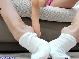 6 min - Teases feet white socks